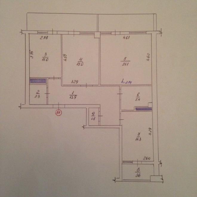 Квартира, 56 кв. м, Улица Героев Бреста, 31